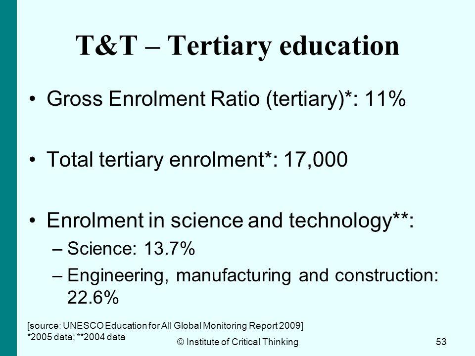 T&T – Tertiary education