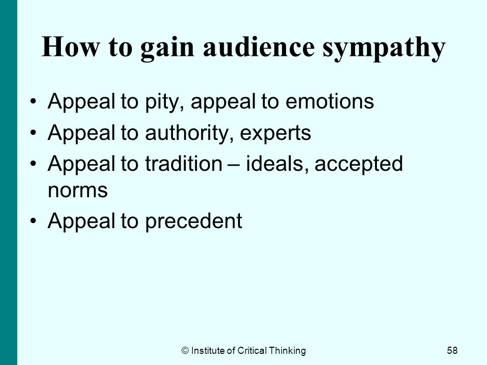 How to gain audience sympathy