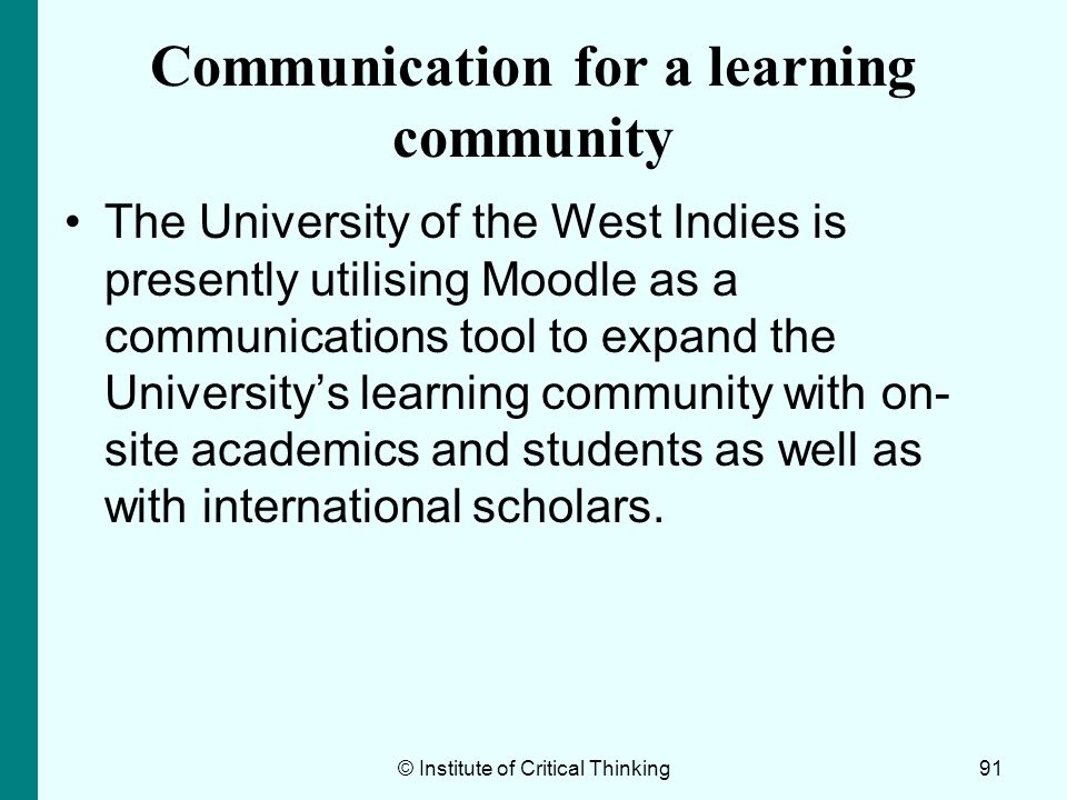 Communication for a learning community