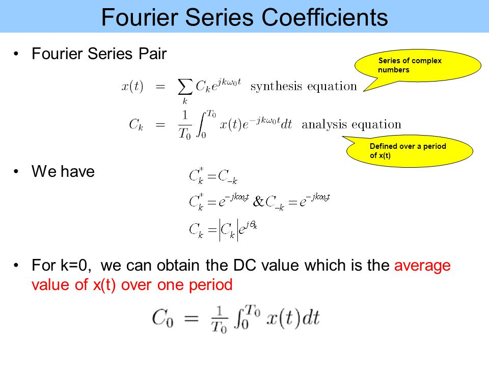 Fourier Series Coefficients