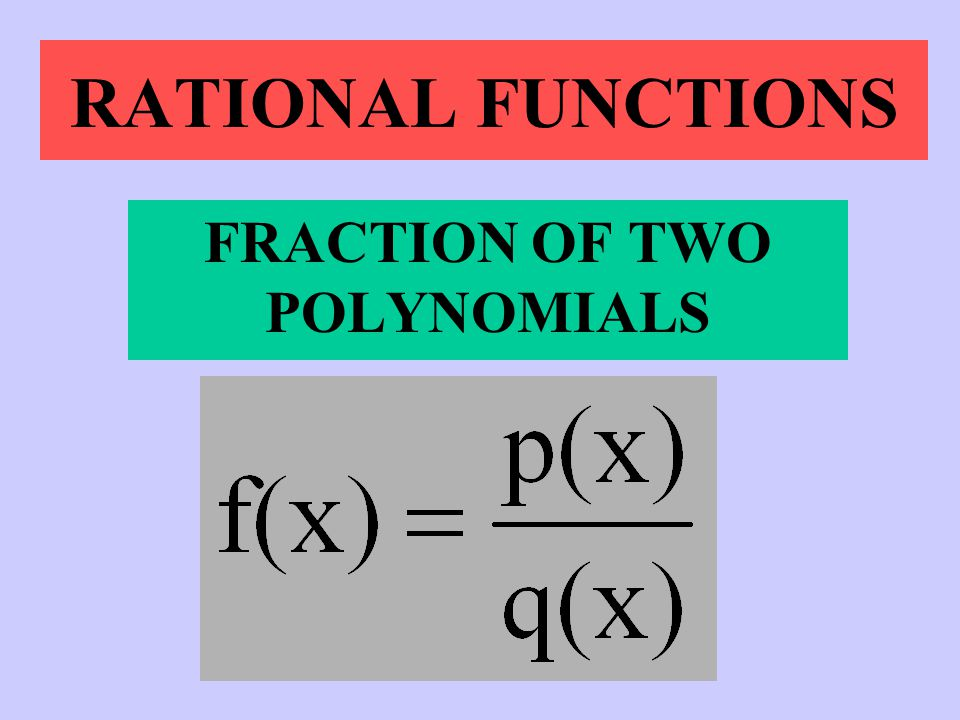 FRACTION OF TWO POLYNOMIALS