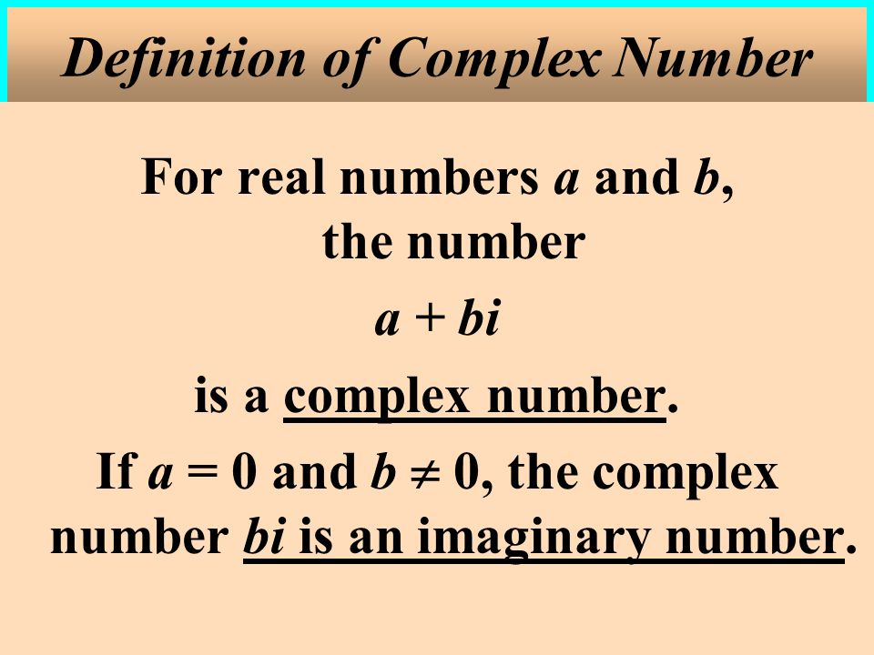 Definition of Complex Number