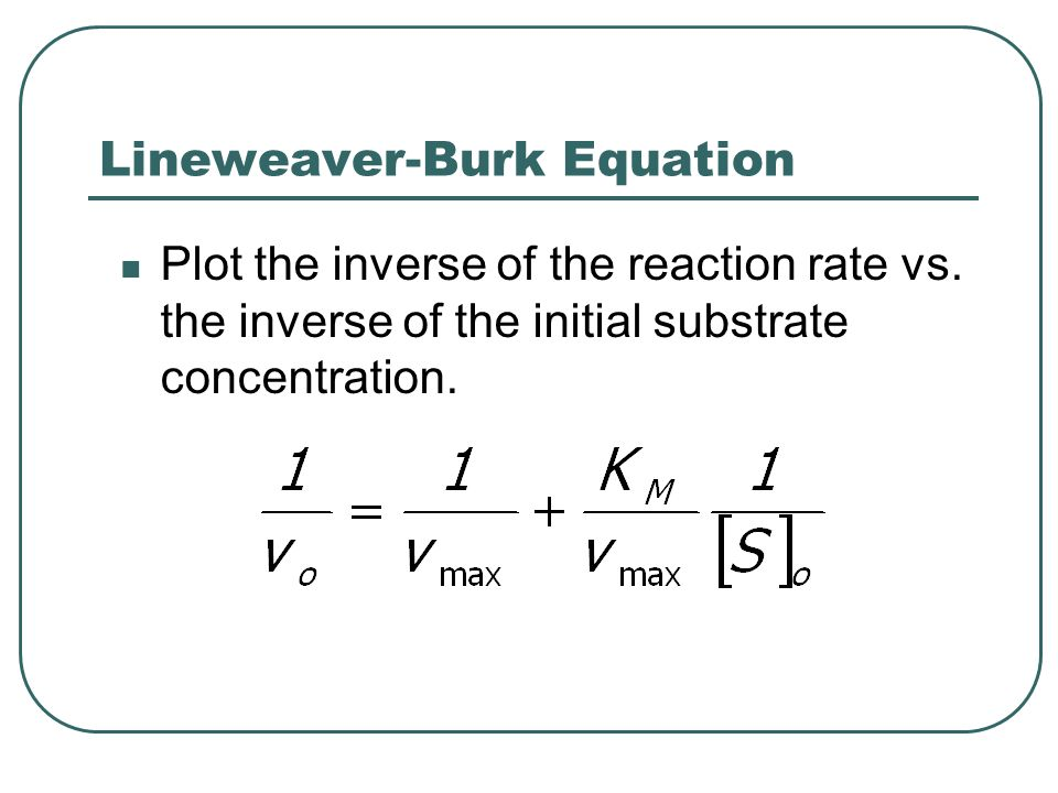 Lineweaver-Burk Equation