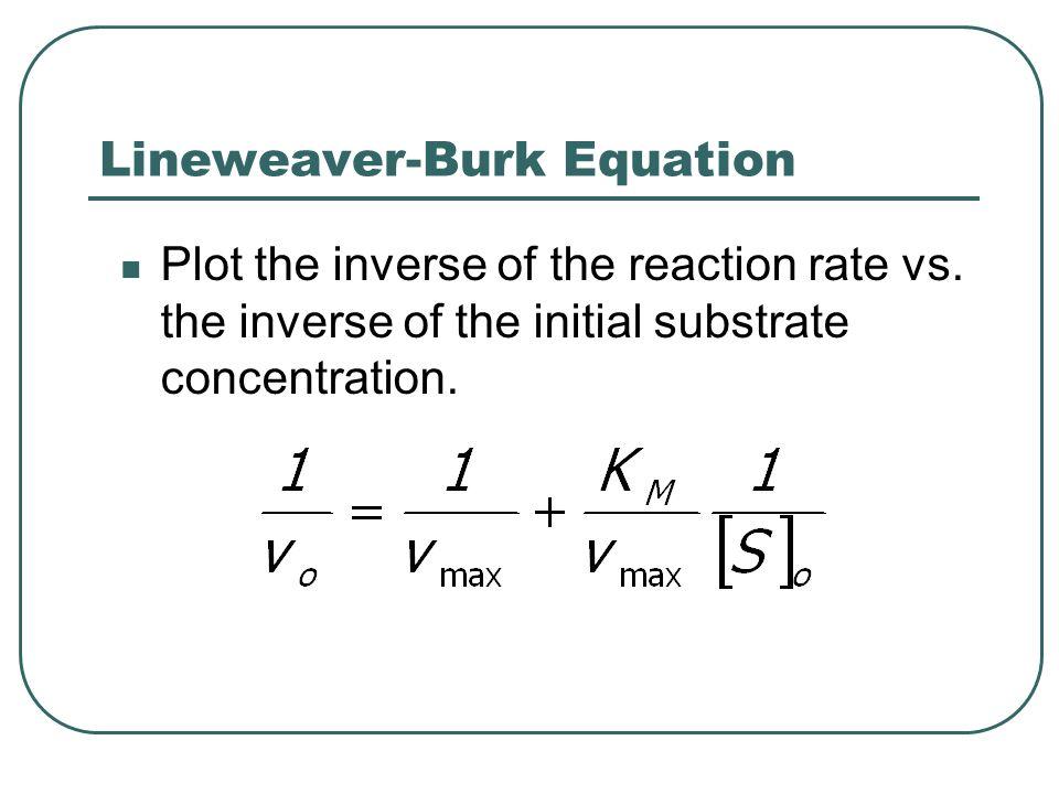 Lineweaver-Burk Equation
