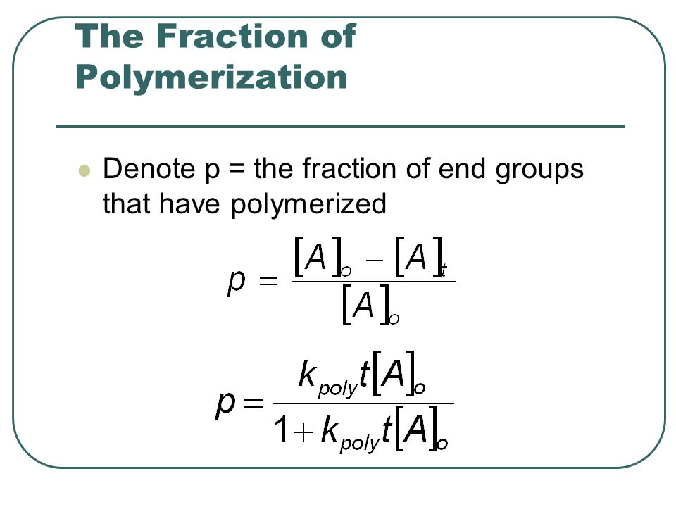 The Fraction of Polymerization