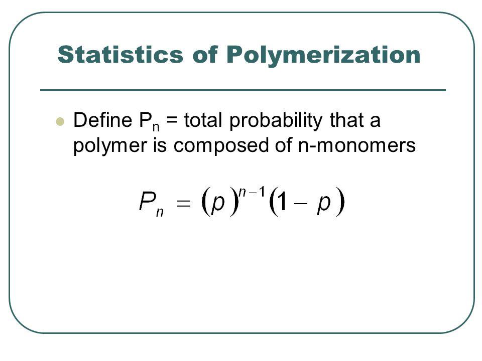 Statistics of Polymerization