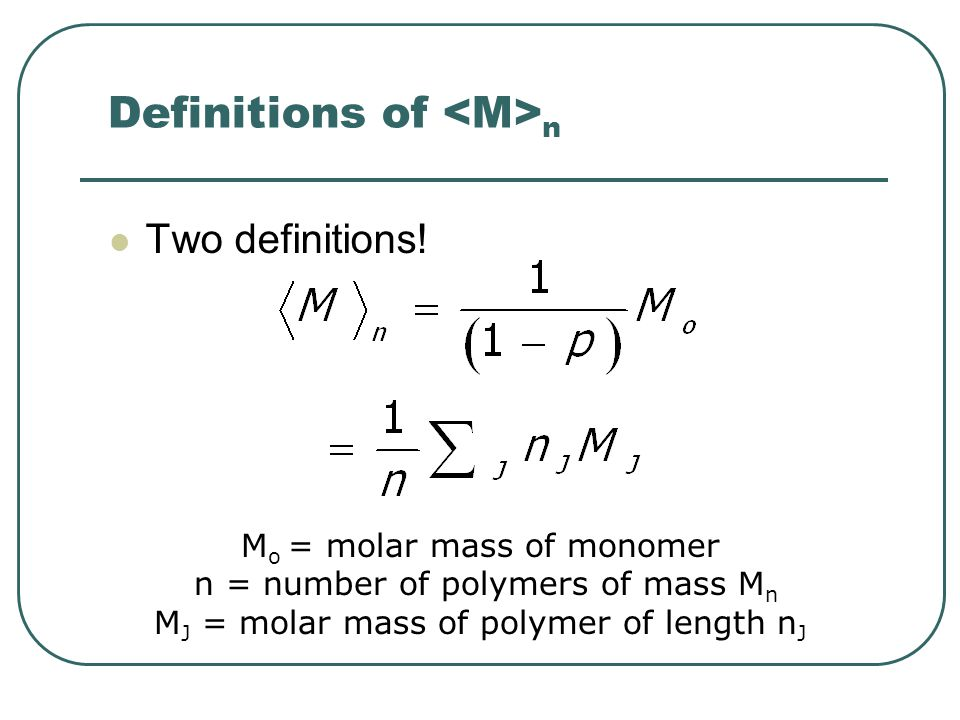 Definitions of <M>n