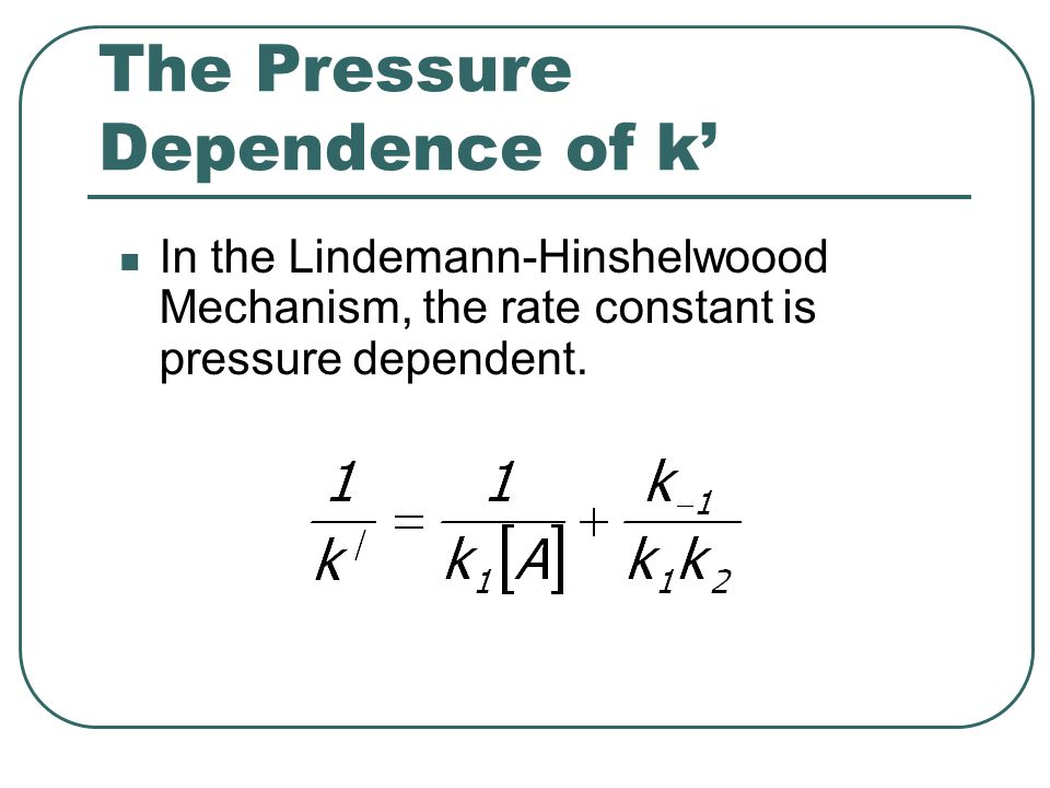 The Pressure Dependence of k'