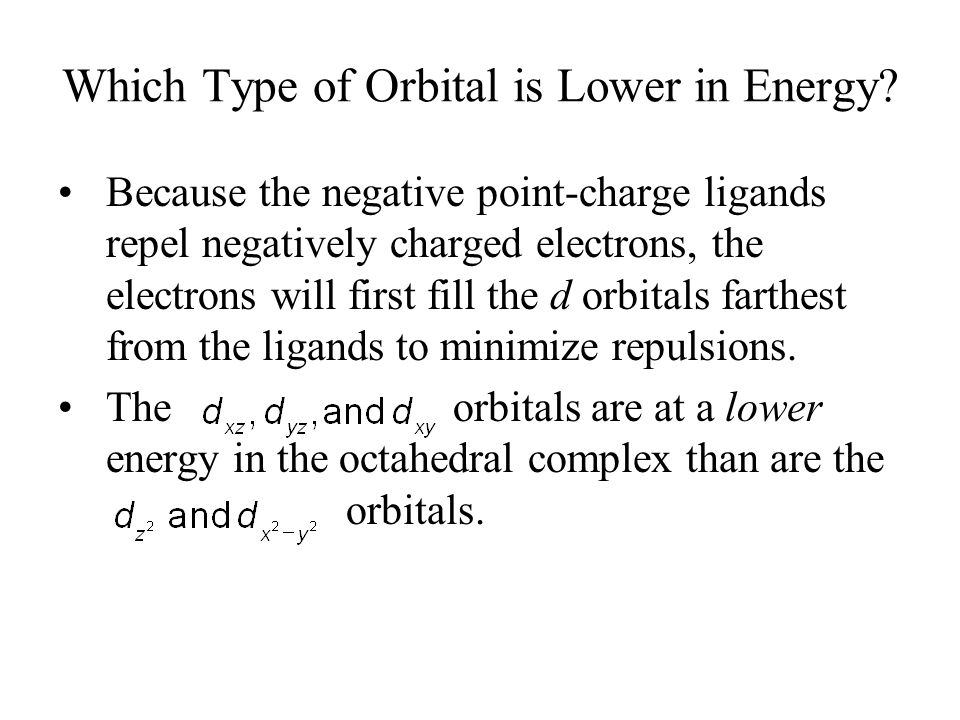 Which Type of Orbital is Lower in Energy