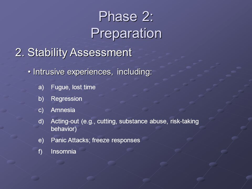 Phase 2: Preparation 2. Stability Assessment