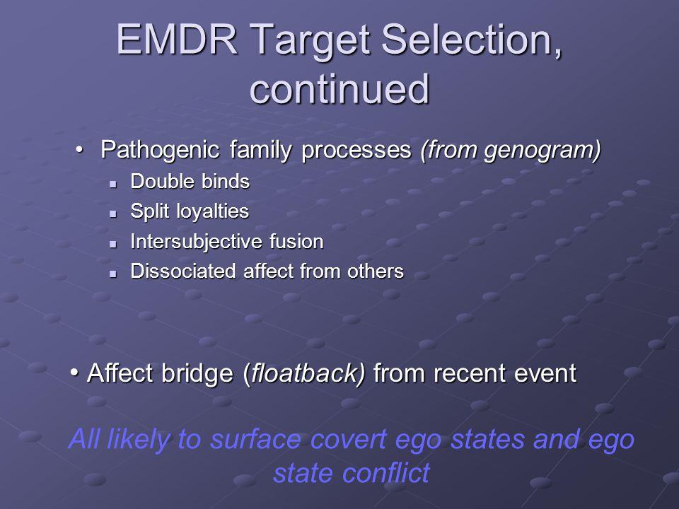 EMDR Target Selection, continued