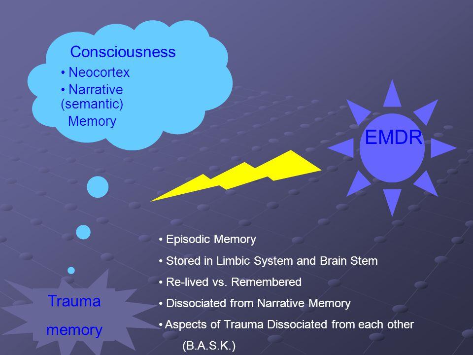 EMDR Consciousness Trauma memory Neocortex Narrative (semantic) Memory