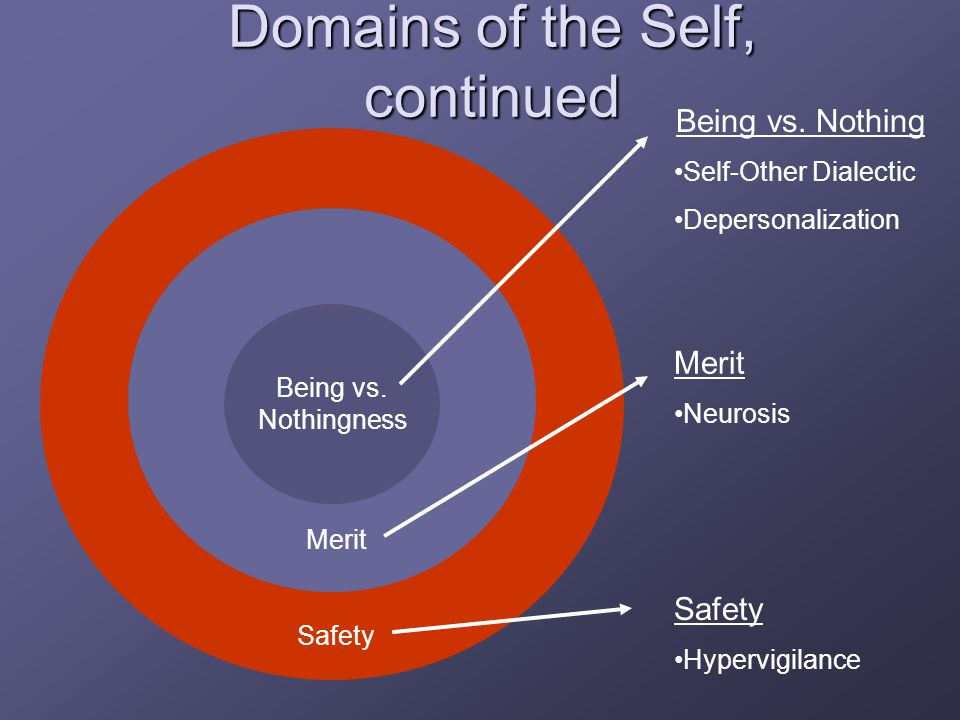 Domains of the Self, continued