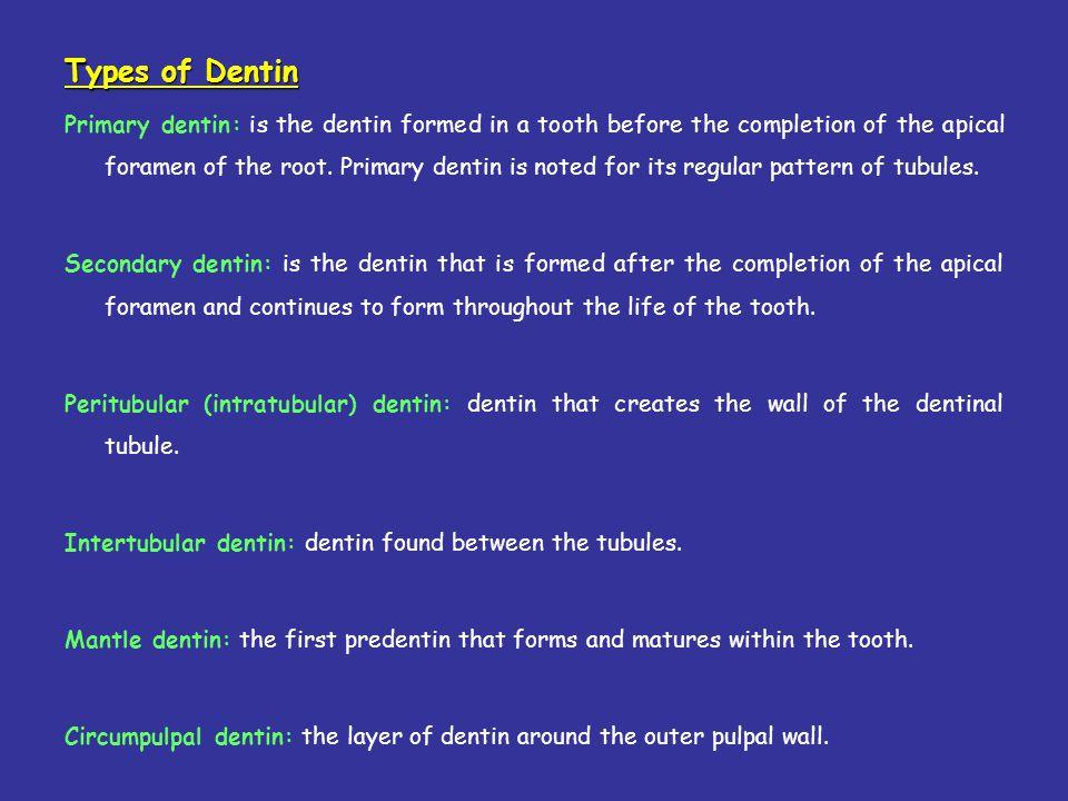 Types of Dentin