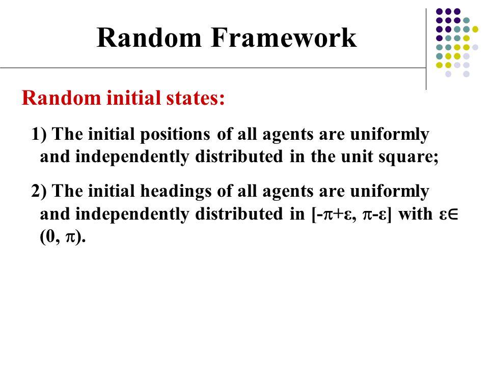 Random Framework Random initial states: