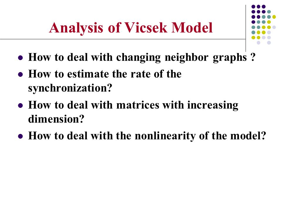 Analysis of Vicsek Model