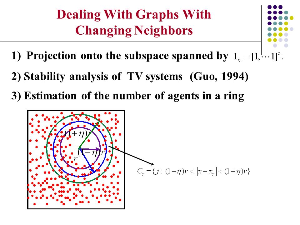 Dealing With Graphs With Changing Neighbors