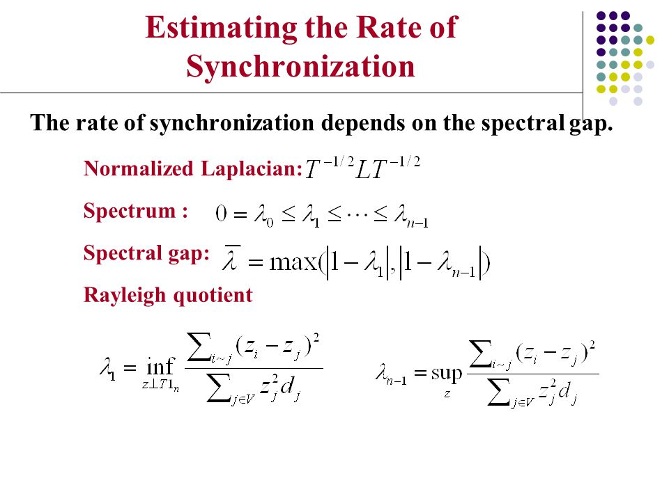 Estimating the Rate of Synchronization