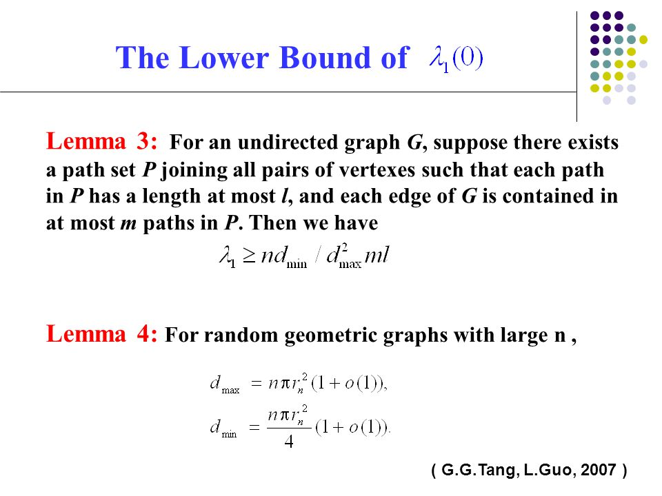 The Lower Bound of
