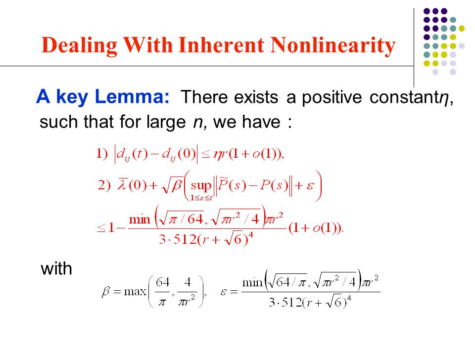 Dealing With Inherent Nonlinearity