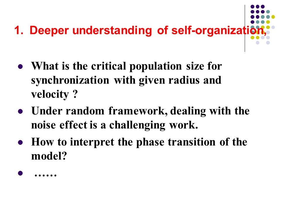 How to interpret the phase transition of the model ……
