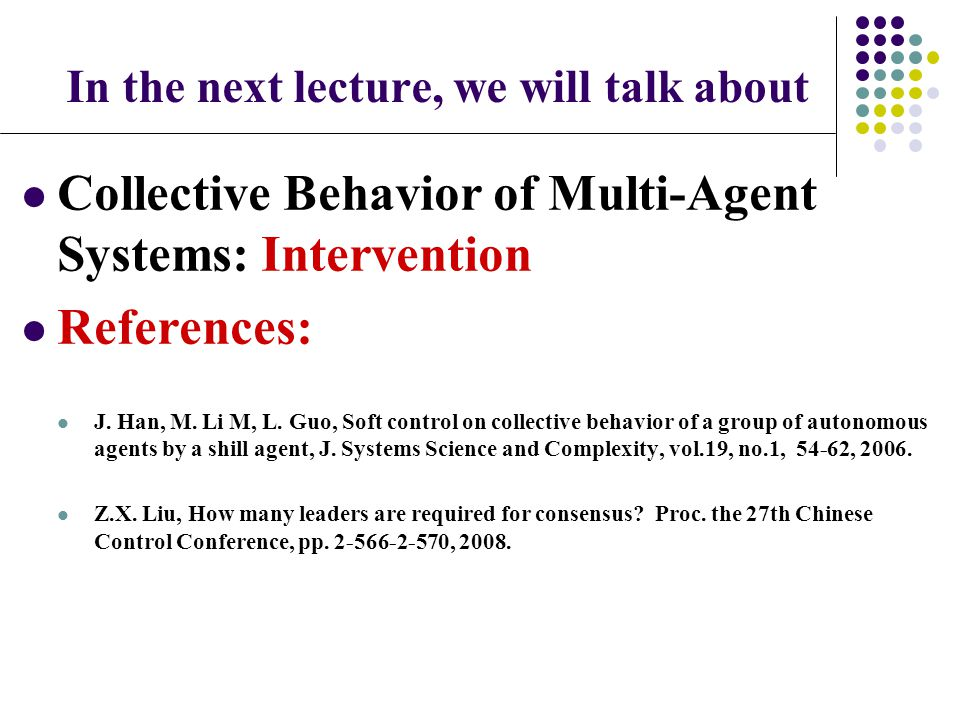In the next lecture, we will talk about