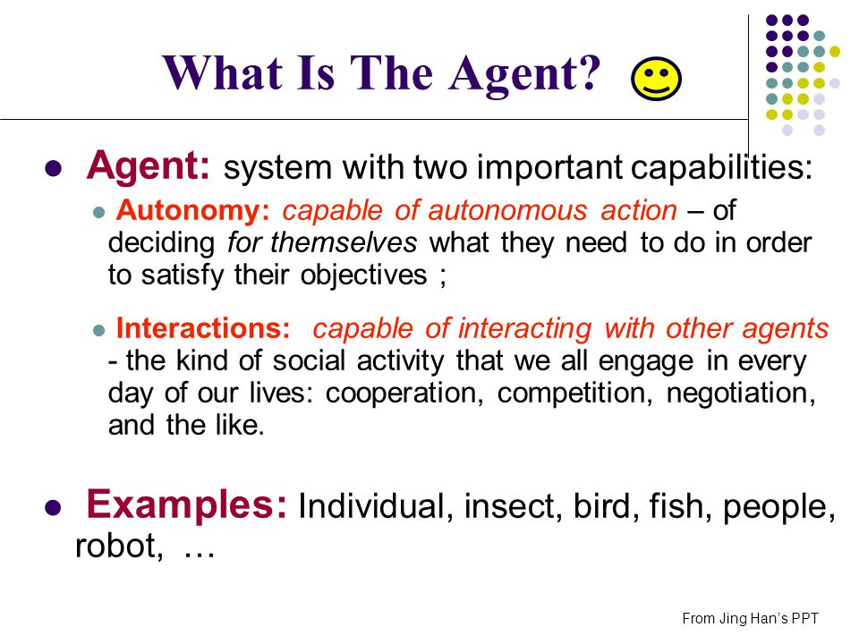 What Is The Agent Agent: system with two important capabilities: