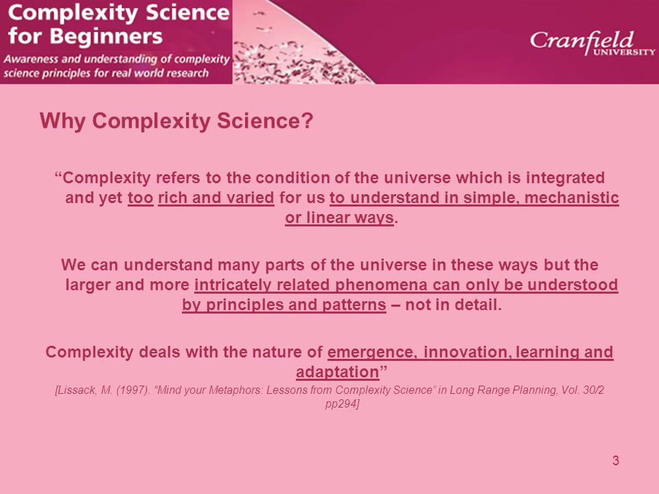 Why Complexity Science
