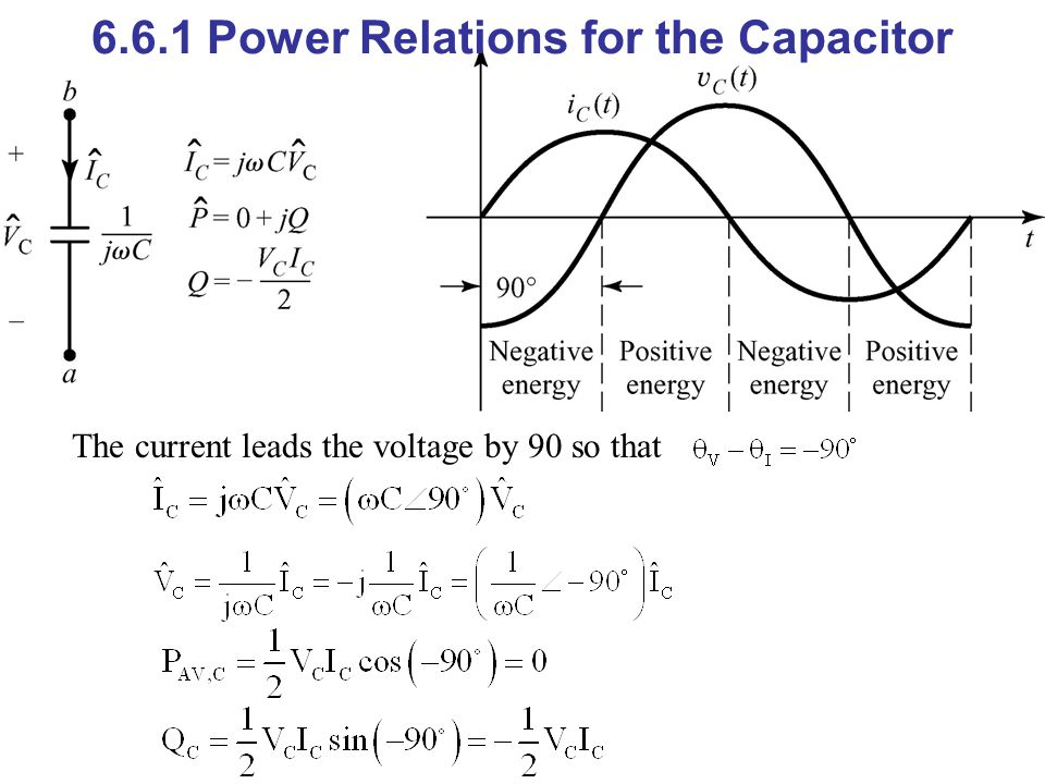 6.6.1 Power Relations for the Capacitor