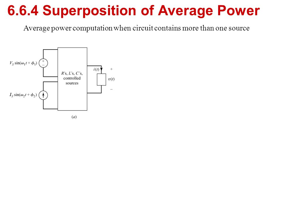 6.6.4 Superposition of Average Power