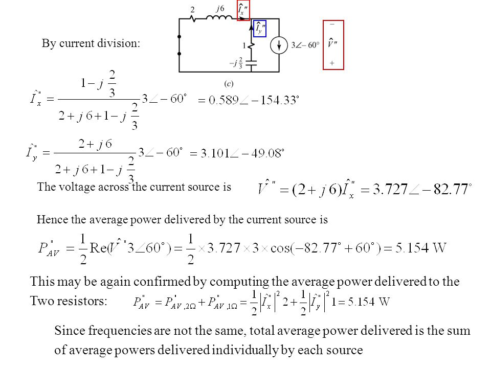 of average powers delivered individually by each source
