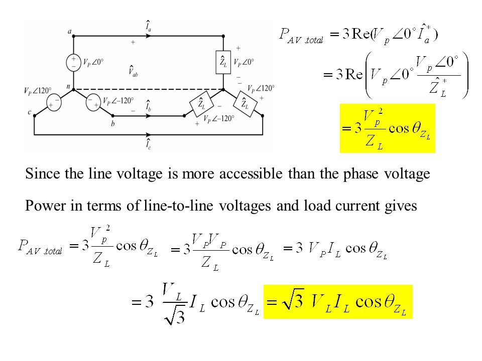 Since the line voltage is more accessible than the phase voltage