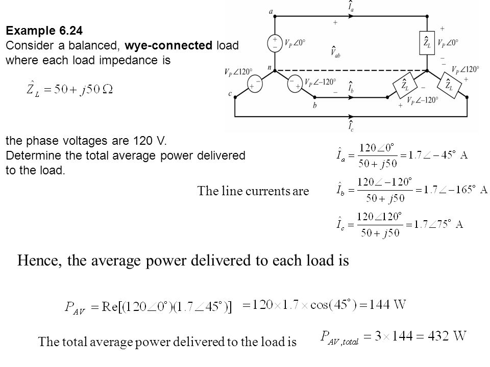 Hence, the average power delivered to each load is