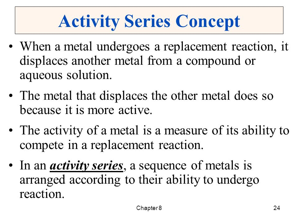 Activity Series Concept