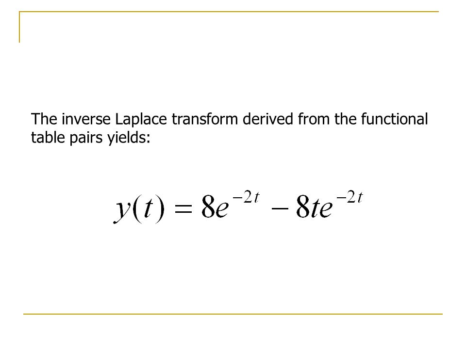 The inverse Laplace transform derived from the functional