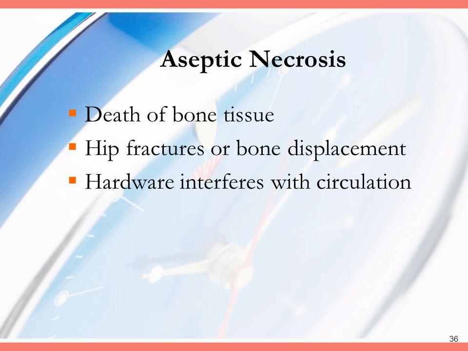 Aseptic Necrosis Death of bone tissue