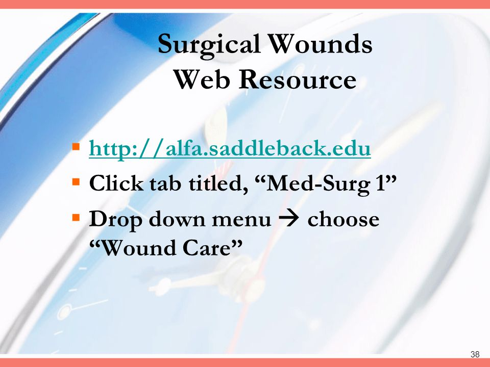 Surgical Wounds Web Resource