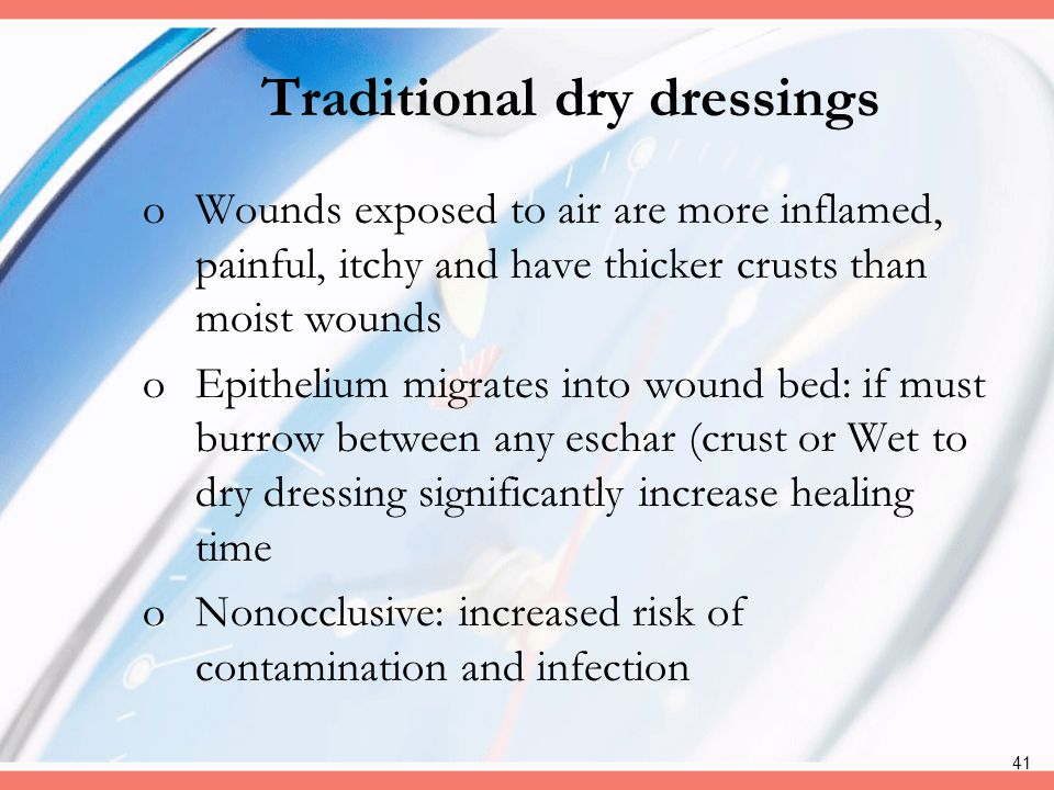 Traditional dry dressings