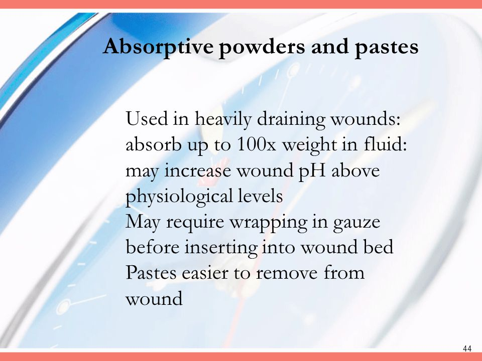 Absorptive powders and pastes