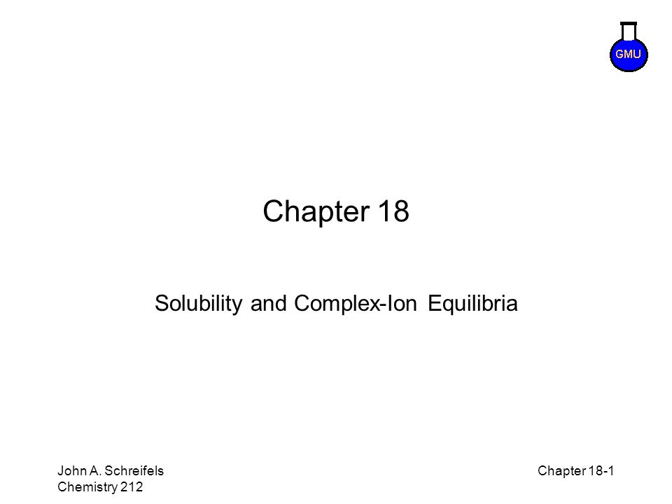 Solubility and Complex-Ion Equilibria