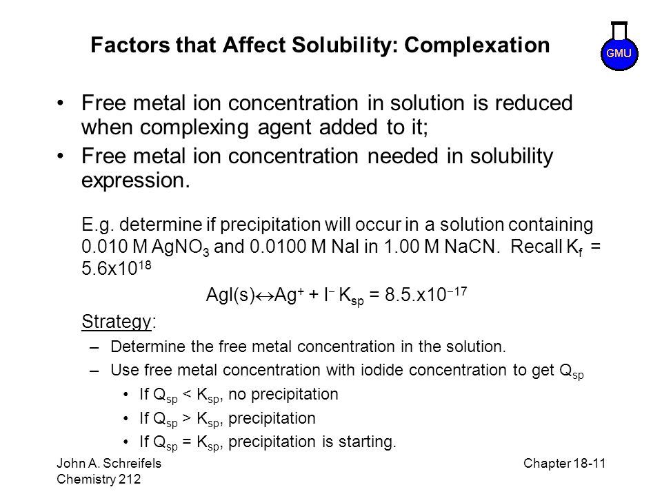 Factors that Affect Solubility: Complexation