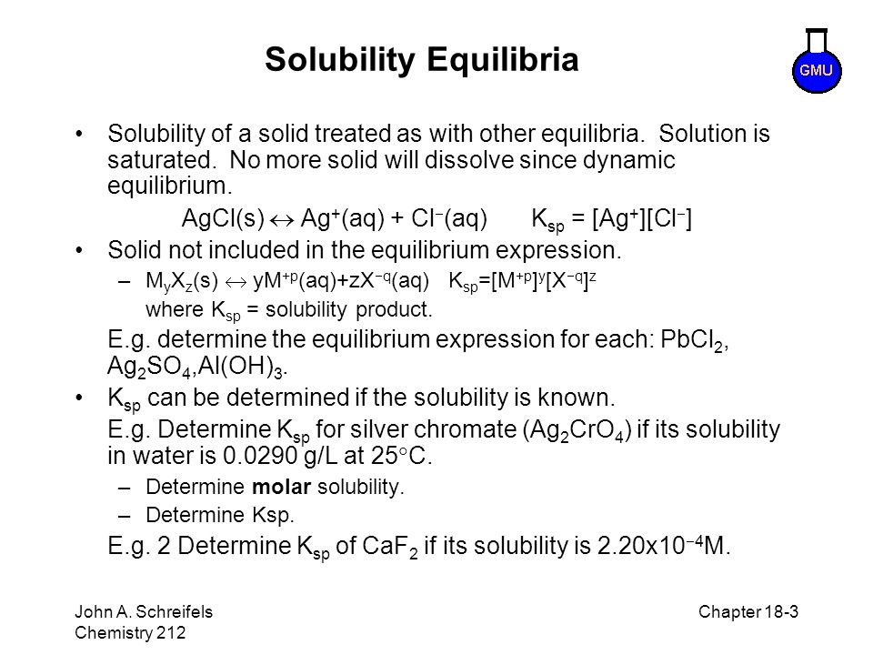 Solubility Equilibria