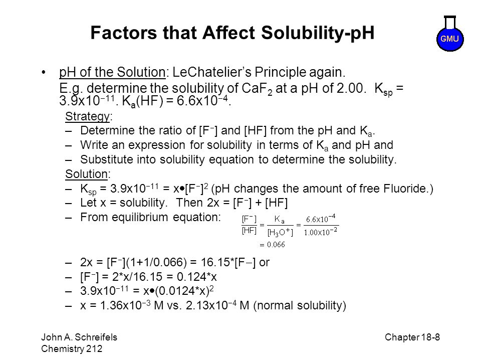 Factors that Affect Solubility-pH