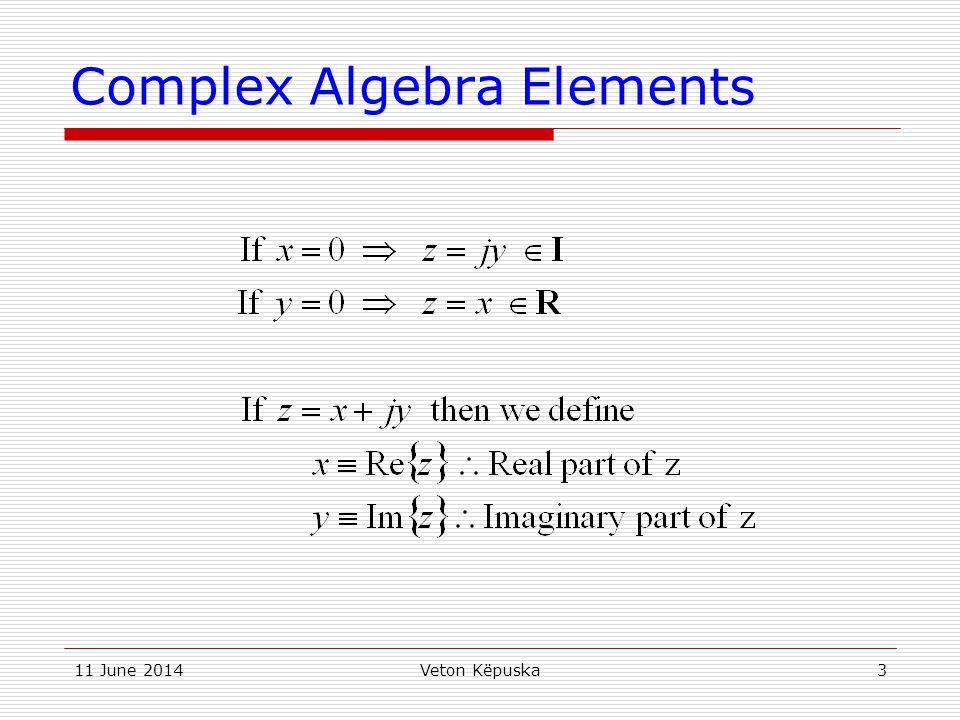 Complex Algebra Elements