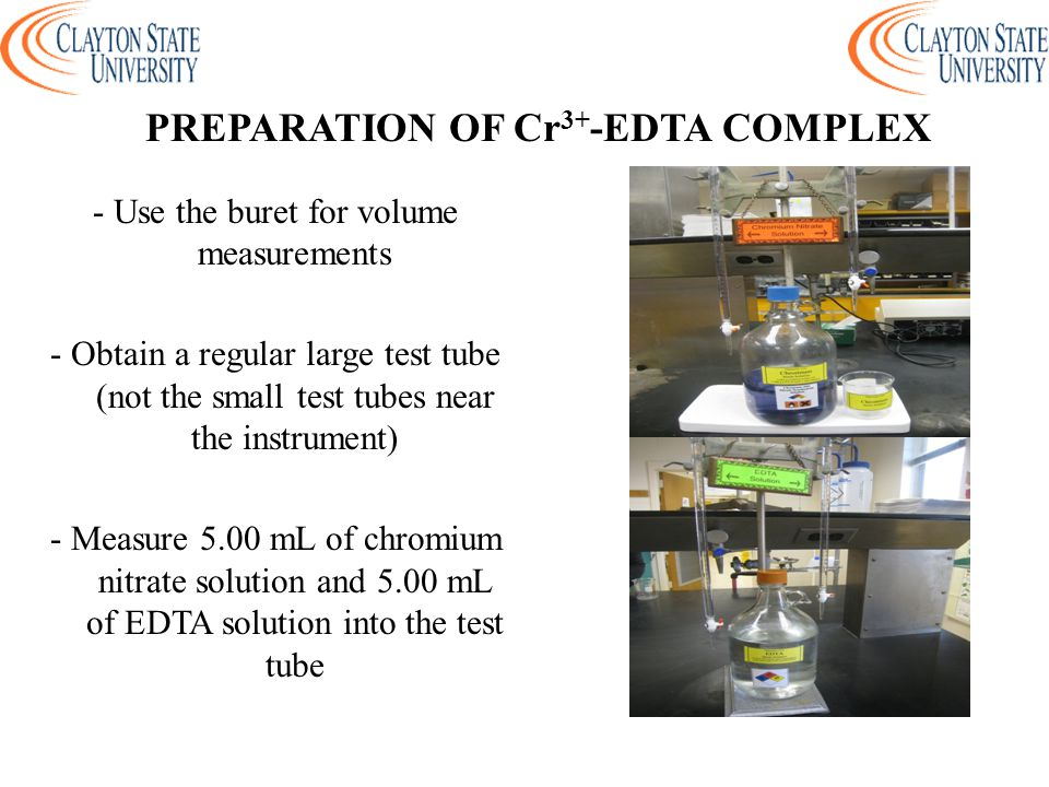 PREPARATION OF Cr3+-EDTA COMPLEX
