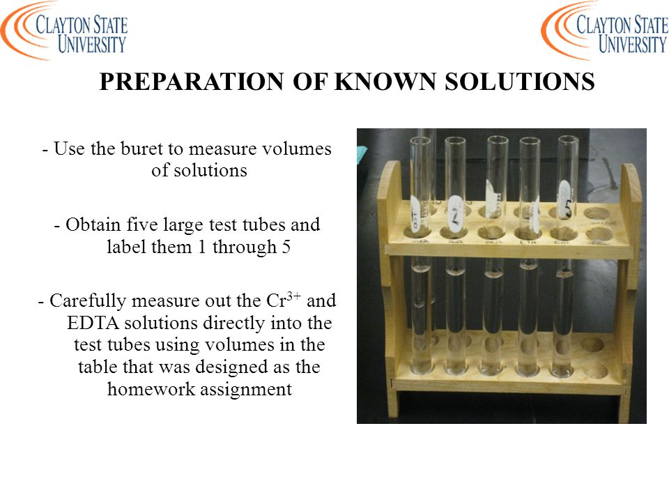 PREPARATION OF KNOWN SOLUTIONS