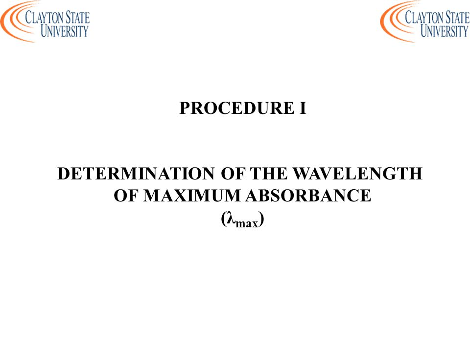 DETERMINATION OF THE WAVELENGTH