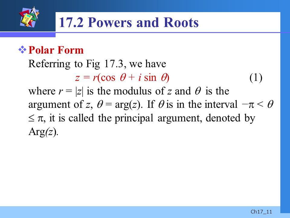 17.2 Powers and Roots