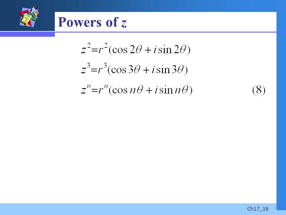 Powers of z