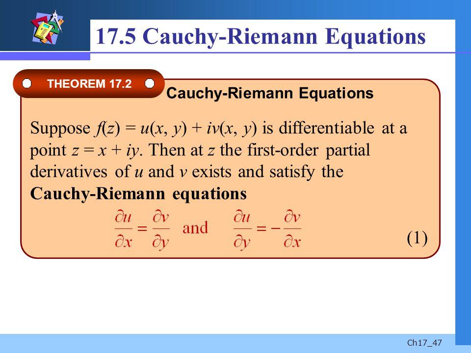 17.5 Cauchy-Riemann Equations